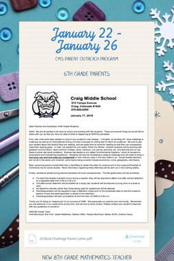 January 22 - January 26