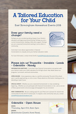 A Tailored Education for Your Child