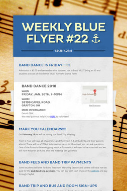 Weekly Blue Flyer #22   ⚓️