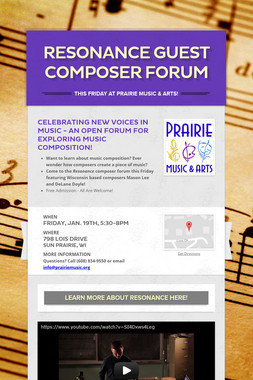 Resonance Guest Composer Forum