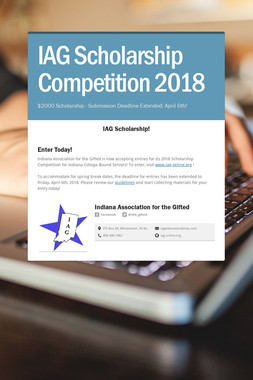 IAG Scholarship Competition 2018