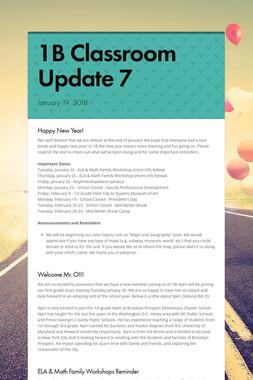 1B Classroom Update 7
