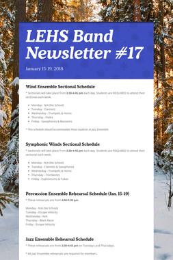 LEHS Band Newsletter #17