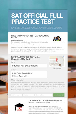 SAT OFFICIAL FULL PRACTICE TEST