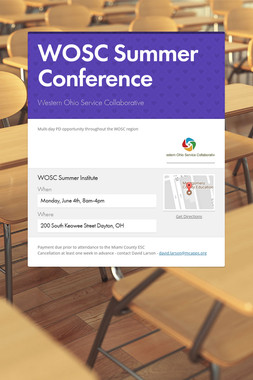 WOSC Summer Conference