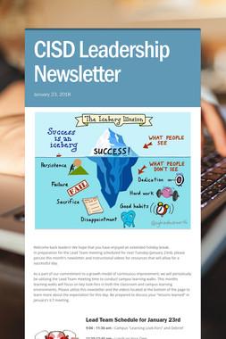 CISD Leadership Newsletter