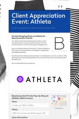 Client Appreciation Event: Athleta