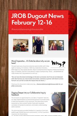 JROB Dugout News  February 12-16