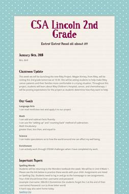 CSA Lincoln 2nd Grade
