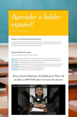 Aprender a hablar español!