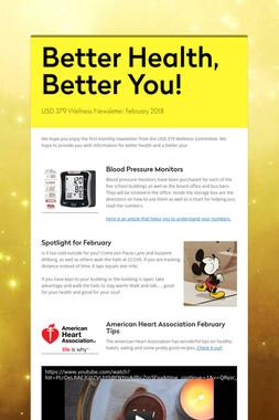 Better Health, Better You!