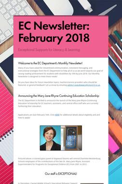 EC Newsletter: February 2018