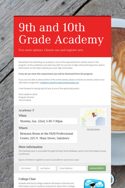 9th and 10th Grade Academy