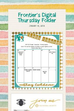 Frontier's Digital Thursday Folder