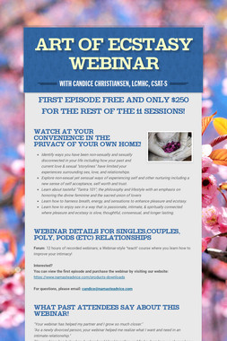 Art of Ecstasy Webinar
