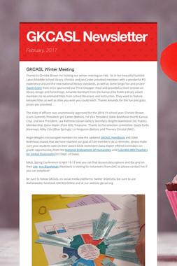 GKCASL Newsletter