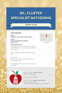 Bil. Cluster Specialist Gathering