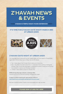 Z'havah News & Events