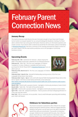 February Parent Connection News