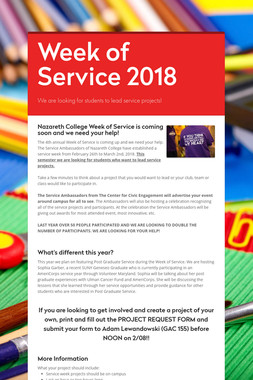 Week of Service 2018