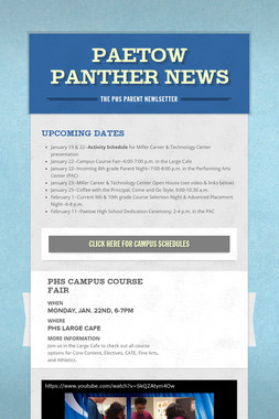 Paetow Panther News