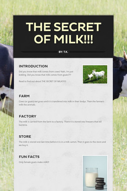 THE SECRET OF MILK!!!