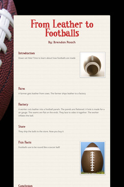From Leather to Footballs