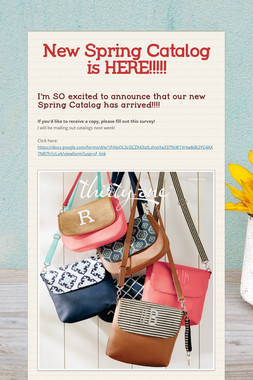 New Spring Catalog is HERE!!!!!
