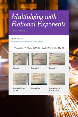 Multiplying with Rational Exponents
