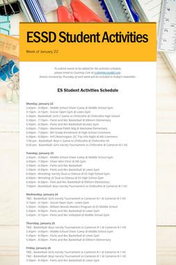ESSD Student Activities
