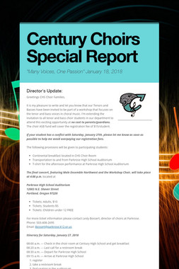 Century Choirs Special Report