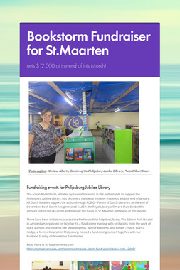 Bookstorm Fundraiser for St.Maarten