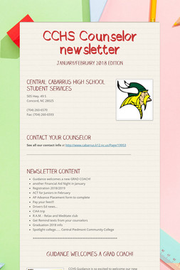CCHS Counselor newsletter