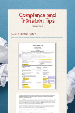 Compliance and Transition Tips