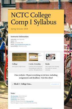 NCTC College Comp I Syllabus
