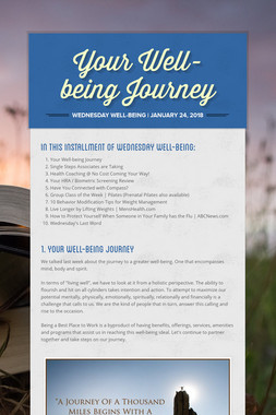 Your Well-being Journey