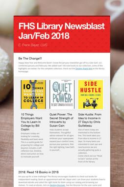 FHS Library Newsblast January 2018