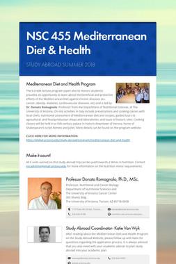 NSC 455 Mediterranean Diet & Health