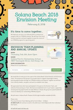 Solana Beach 2018 Envision Meeting