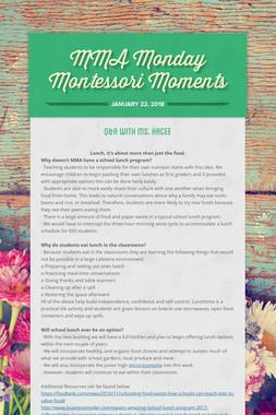 MMA Monday Montessori Moments