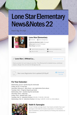 Lone Star Elementary News&Notes 22