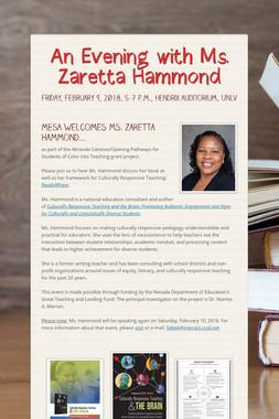 An Evening with Ms. Zaretta Hammond