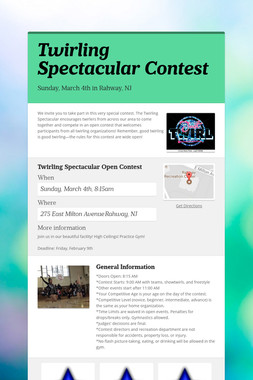 Twirling Spectacular Contest