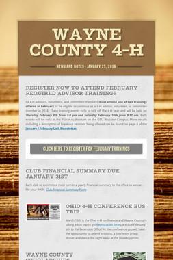 Wayne County 4-H