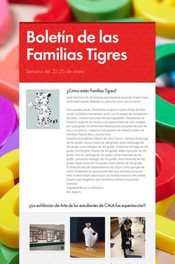 Boletín de las Familias Tigres