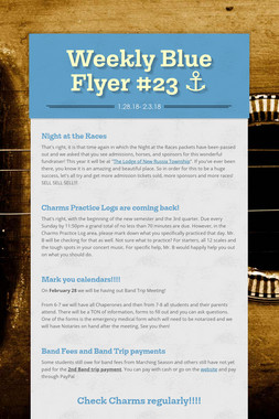Weekly Blue Flyer #23   ⚓️
