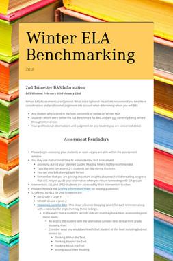 Winter ELA Benchmarking