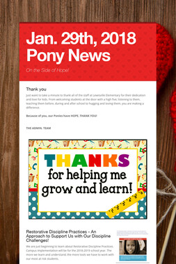Jan. 29th, 2018 Pony News