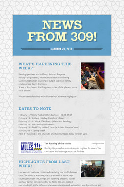 News from 309!
