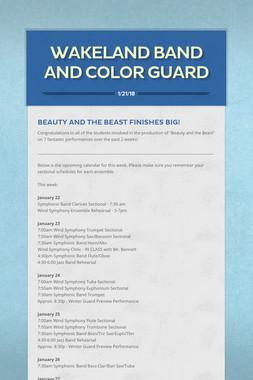 Wakeland Band and Color Guard